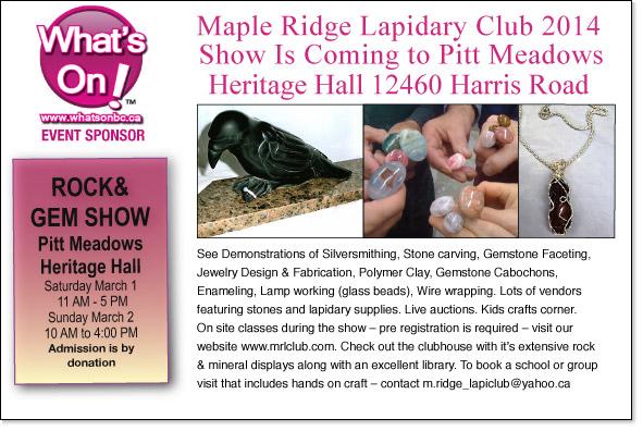 maple ridge rock and gem show
